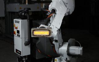 Robotergeführtes flammenfreies Brennersystem