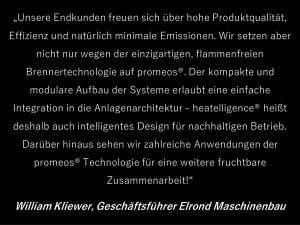 """""""Unsere Endkunden freuen sich über hohe Produktqualität, Effizienz und natürlich minimale Emissionen."""